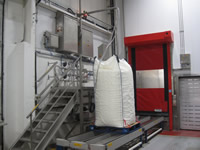 Nitrogen gassing of Big Bags